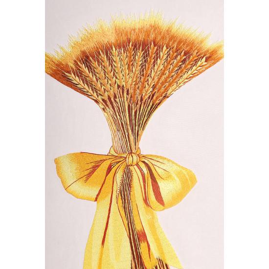 Картина вышитая шелком Золотой символ богатства ручной работы