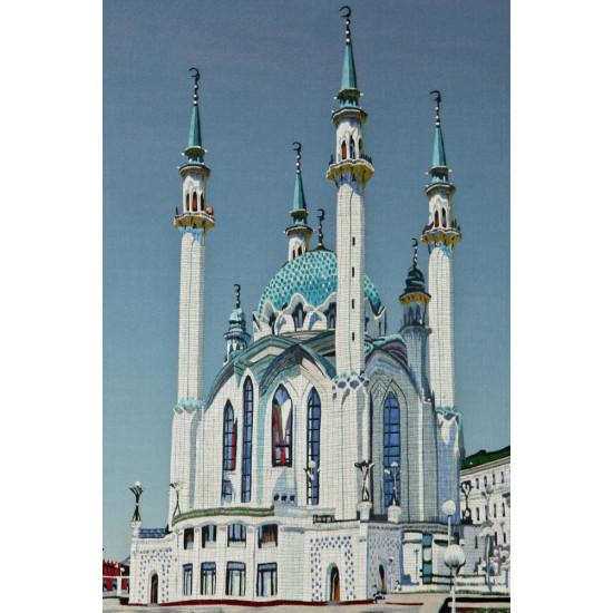 Картина вышитая шелком Мечеть Кул Шариф ручной работы