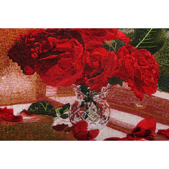 Китайская вышивка от Живого Шелка Чарующая романтика роз ручной работы