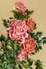 Ручная шелковая вышивка Пионы Королева Антуанетта